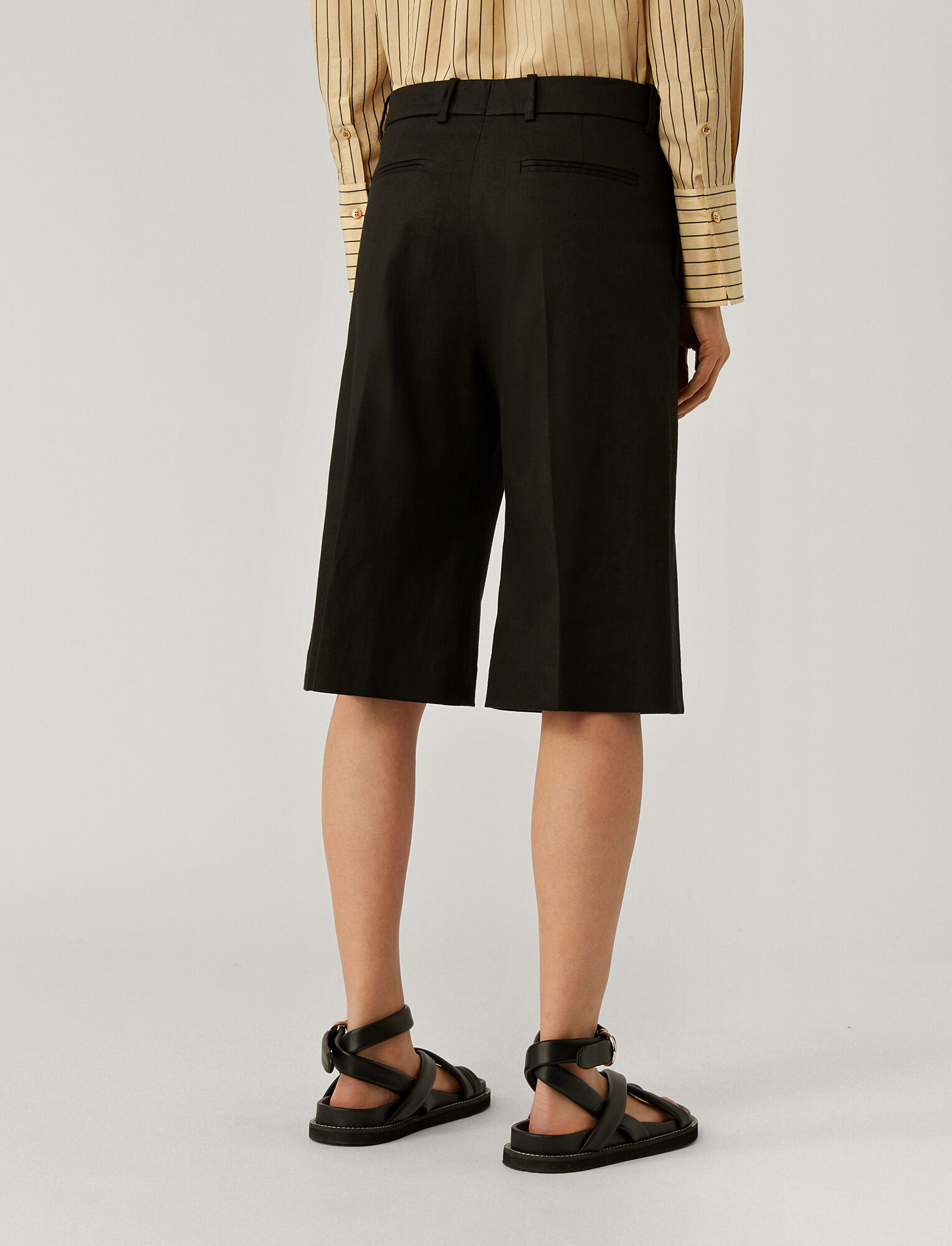 Joseph, Samuel Stretch Linen Trousers, in BLACK
