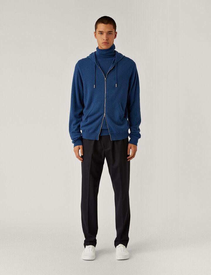 Joseph, Hoodie Cashmere Knit Knitwear, in Blue