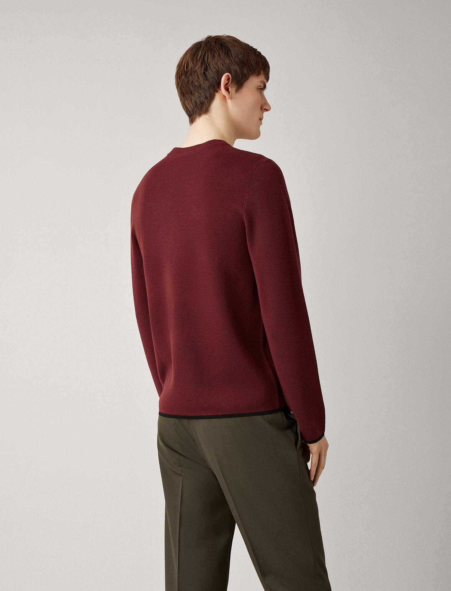 Joseph, Fine Milano Knit, in GARNET