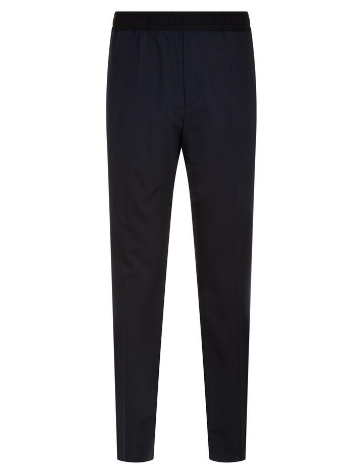 Joseph, Eugene Fine Comfort Wool Trousers, in NAVY COMBO