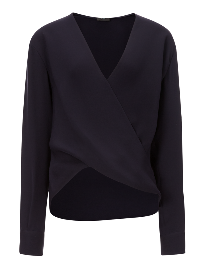 Joseph, Neal Silk Crepe Blouse, in NAVY