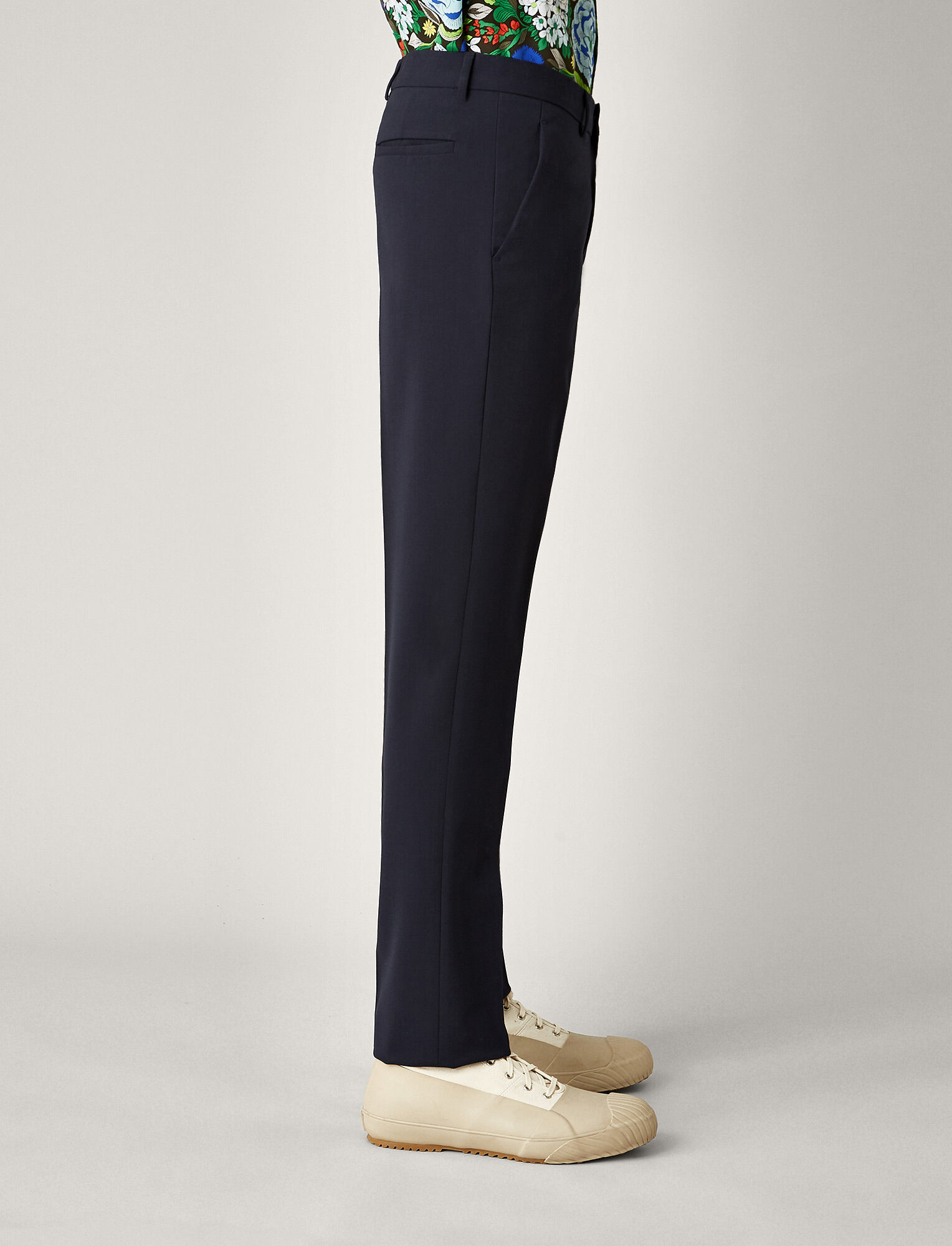 Joseph, Jack Techno Wool Stretch Trousers, in NAVY