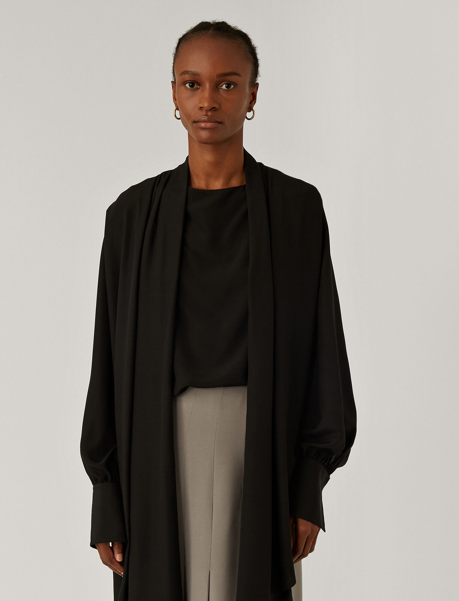 Joseph, Bose Light Silk Blouse, in Black