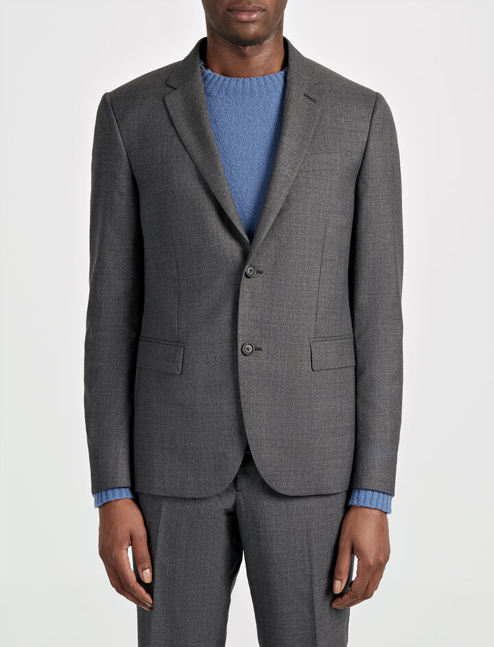 Joseph, Tropical Wool Davide Suit Jacket, in GREY