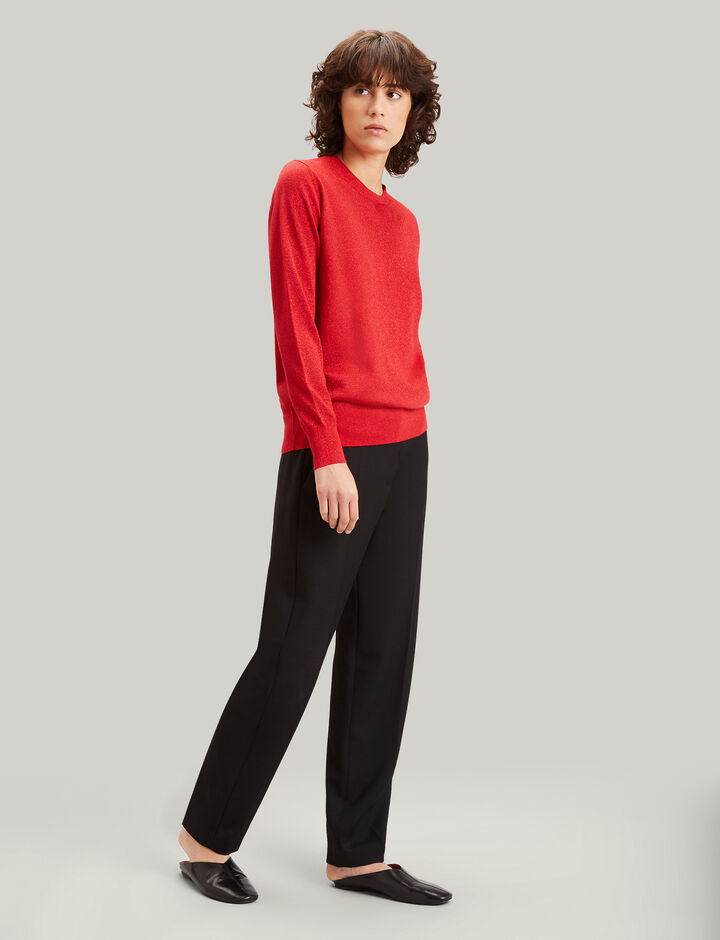 Joseph, Merinos Lurex Knit, in FIRE