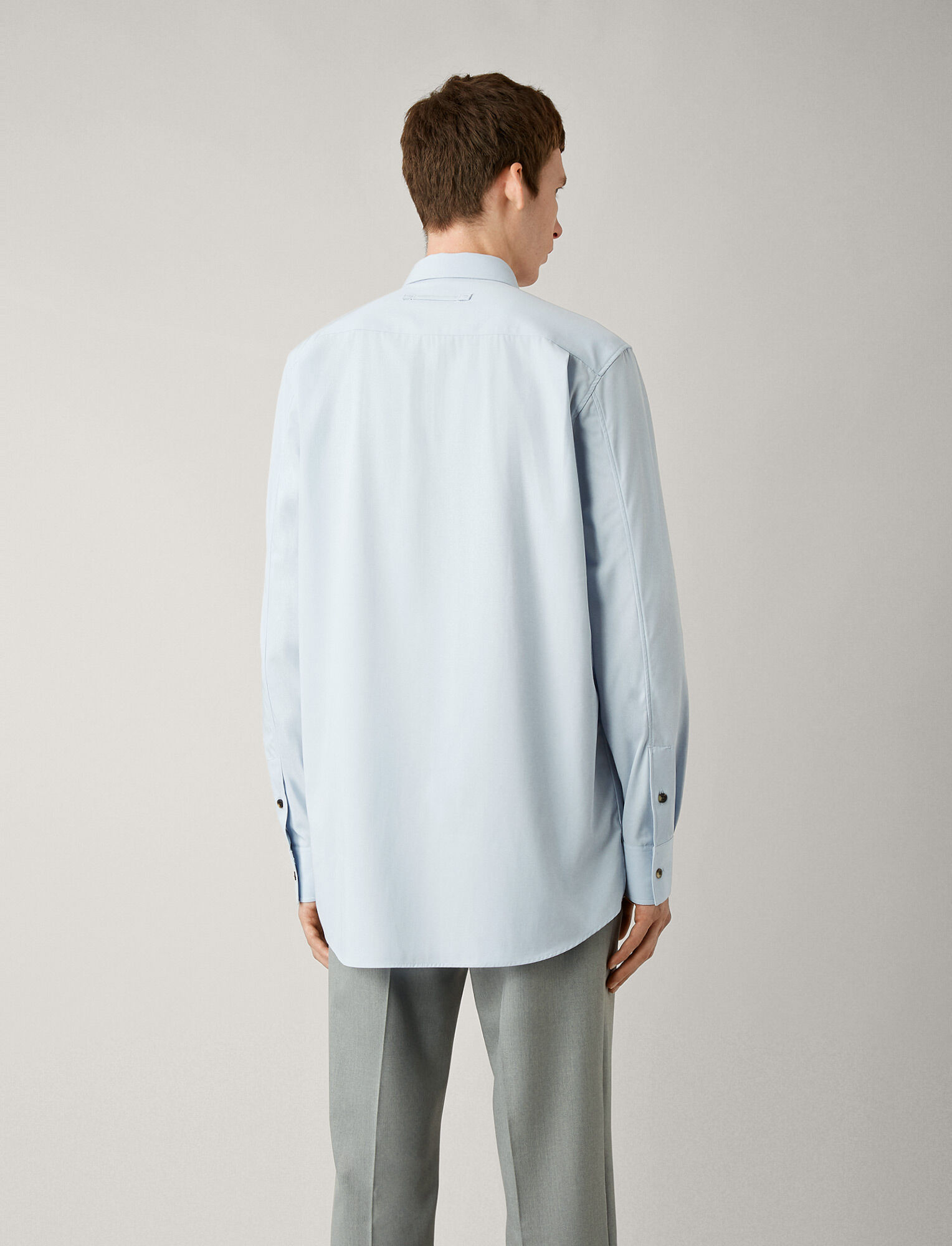 Joseph, Joseph Cotton Twill Shirt, in SKY BLUE