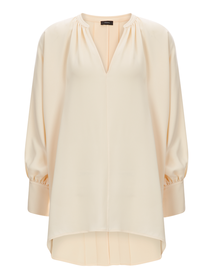 Joseph, Alma Silk Crepe Blouse, in CLOTTED CREAM