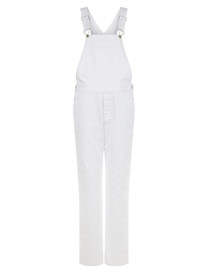 Joseph, Monica Drill Stretch Dungarees, in WHITE