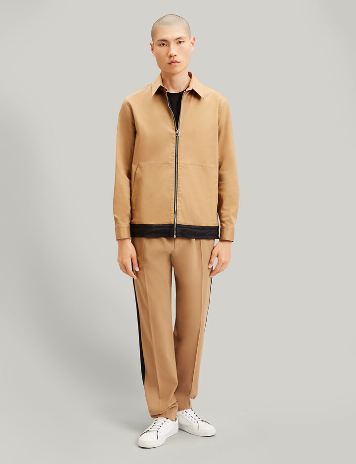 Joseph, Maxime Twill Chino Bicolour Jacket, in CAMEL COMBO