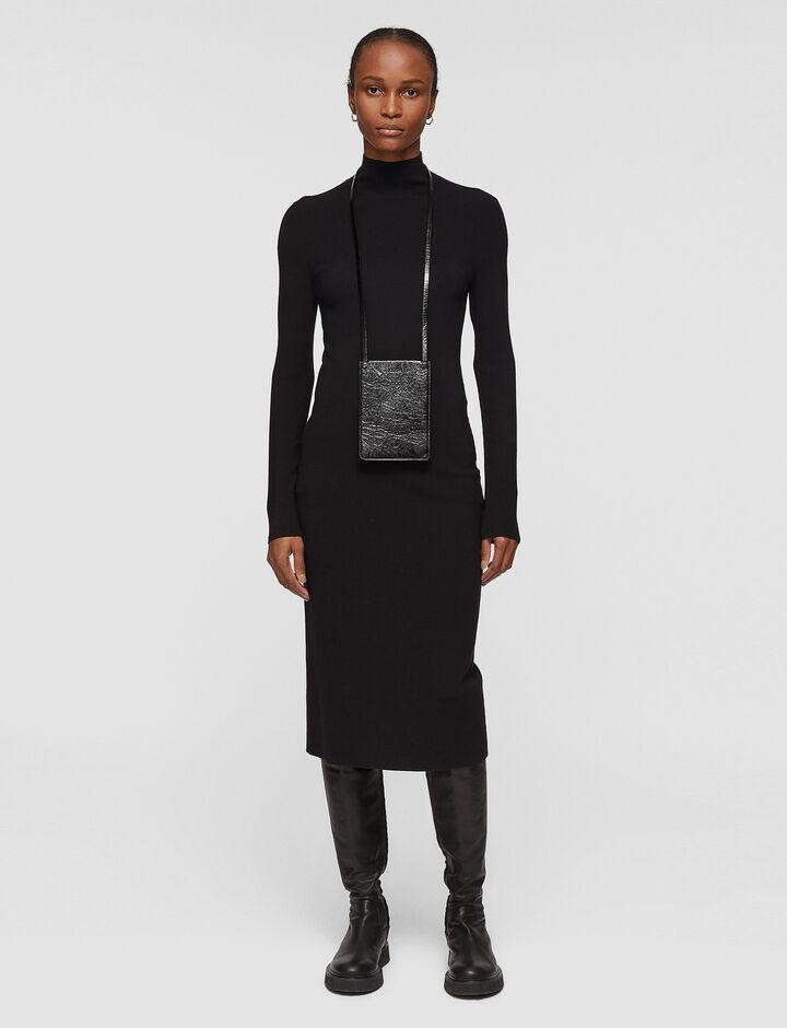 Joseph, Silk Stretch Dress, in BLACK