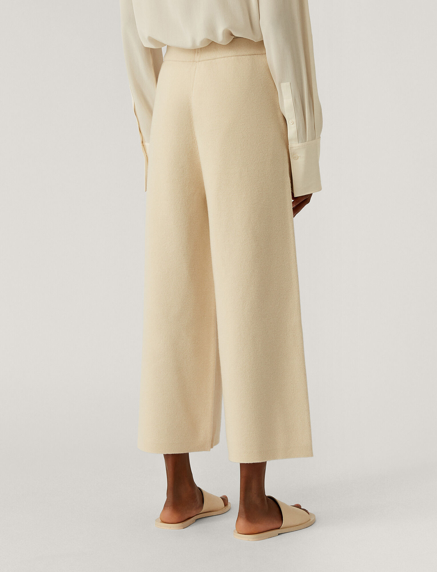 Joseph,  Soft Wool Trousers, in Ivory