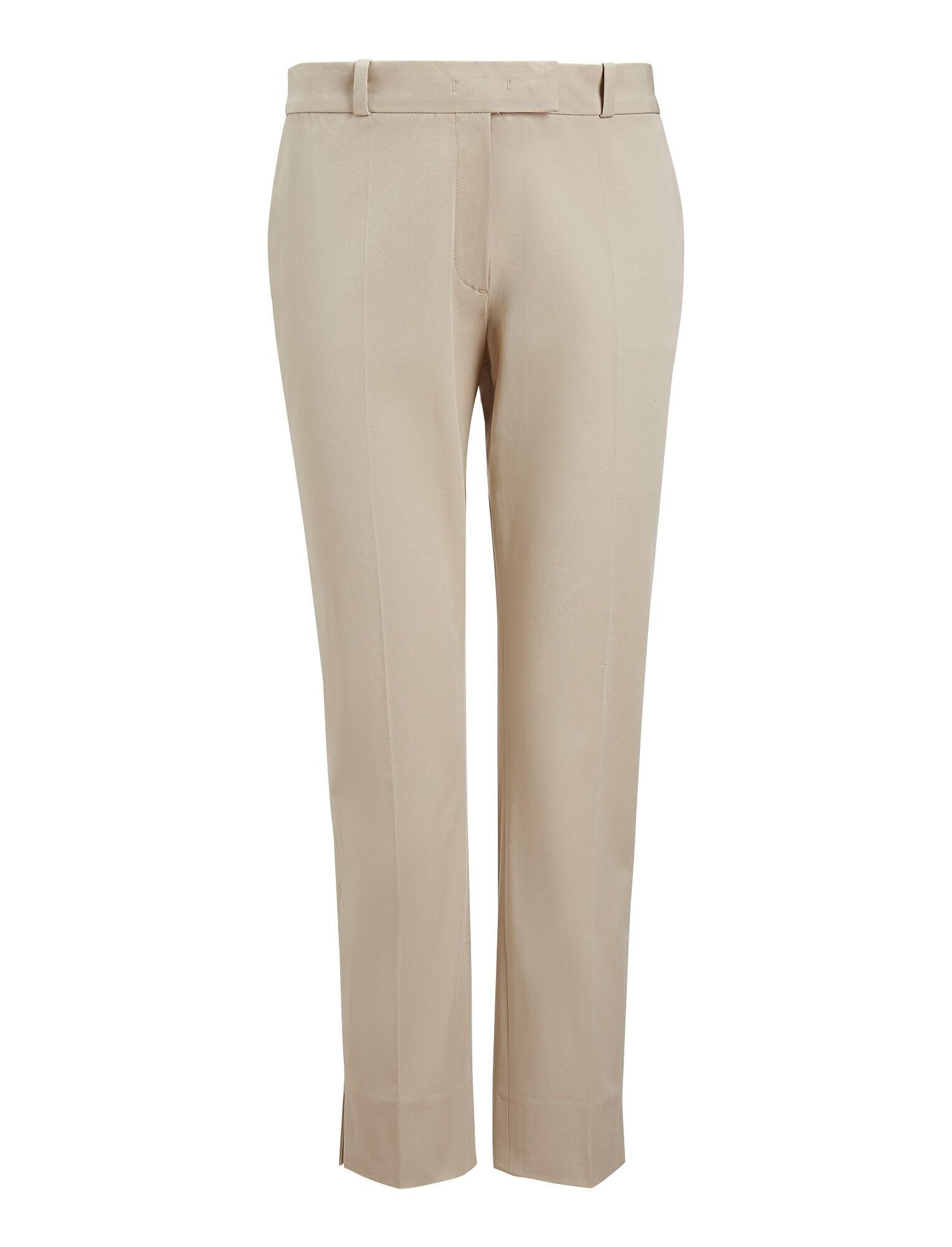 Joseph, Bing Court Polish Cotton Trousers, in STONE