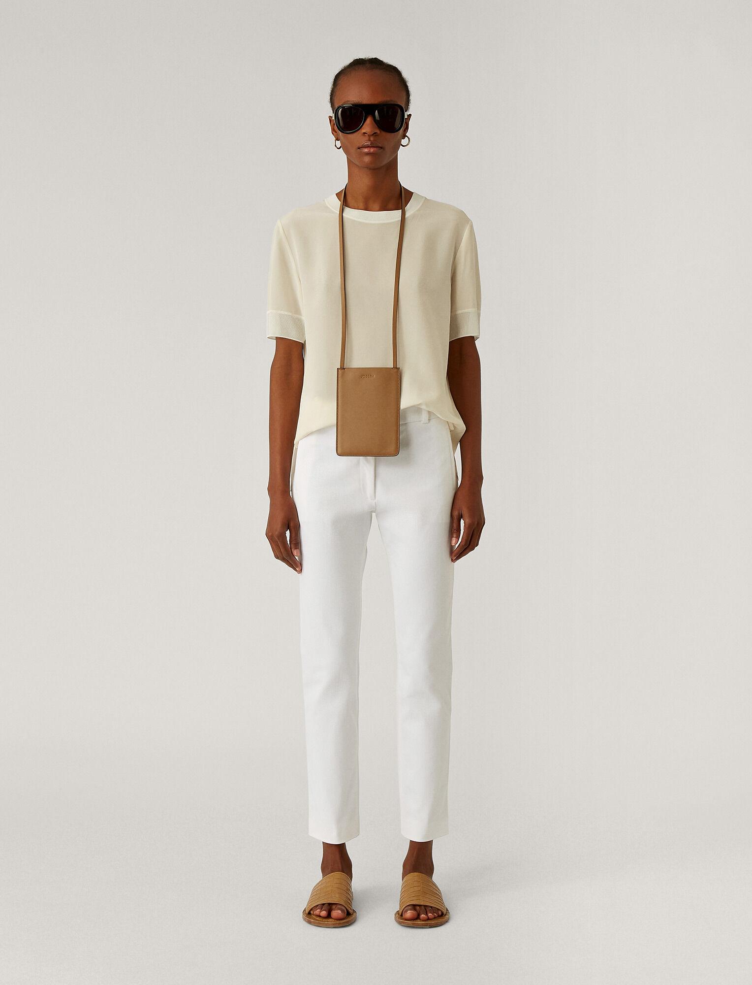 Joseph, New Eliston Gabardine Stretch Trousers, in WHITE