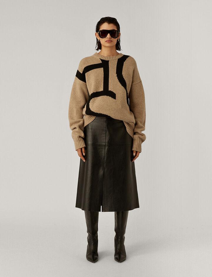 Joseph, Logo Sweater Intarsia Knit Knitwear, in Blush