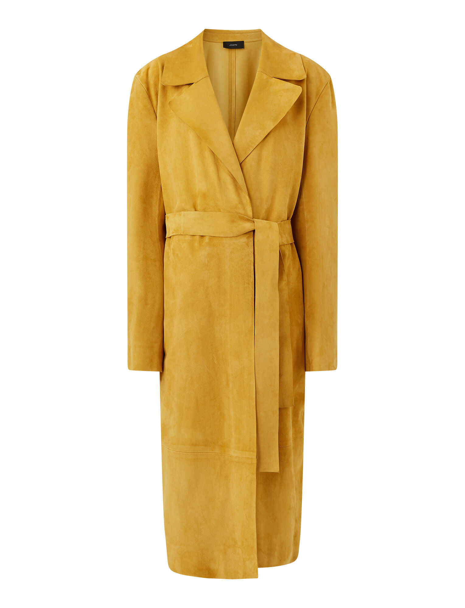Joseph, Suede June Coat, in SAFFRON