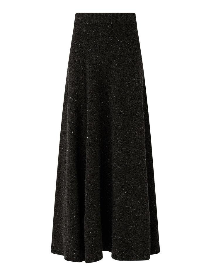 Joseph, Tweed Knit Skirt, in IRON