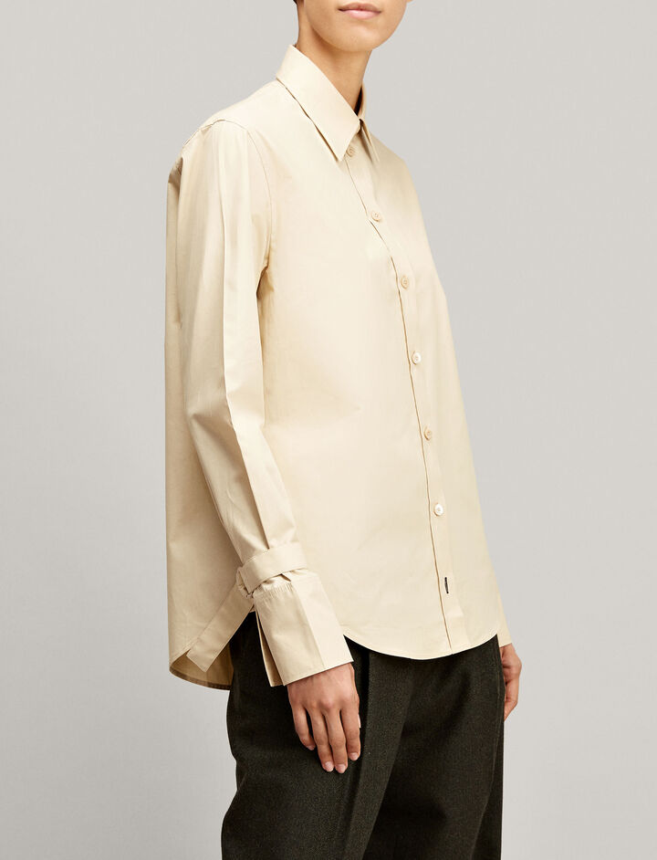 Joseph, Rem Poplin Blouse, in CREAM