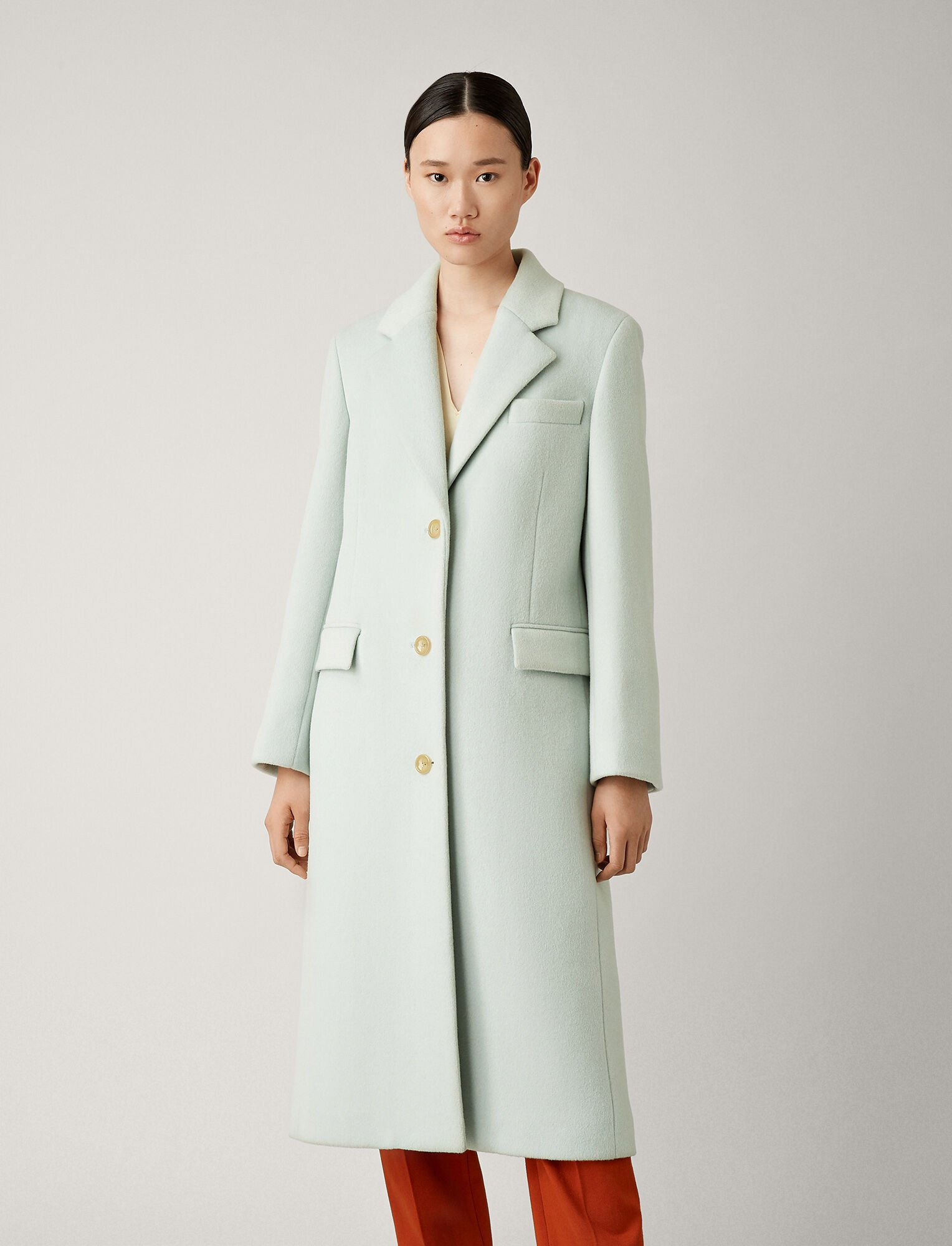 Joseph, March Wool Coat, in DUCK EGG