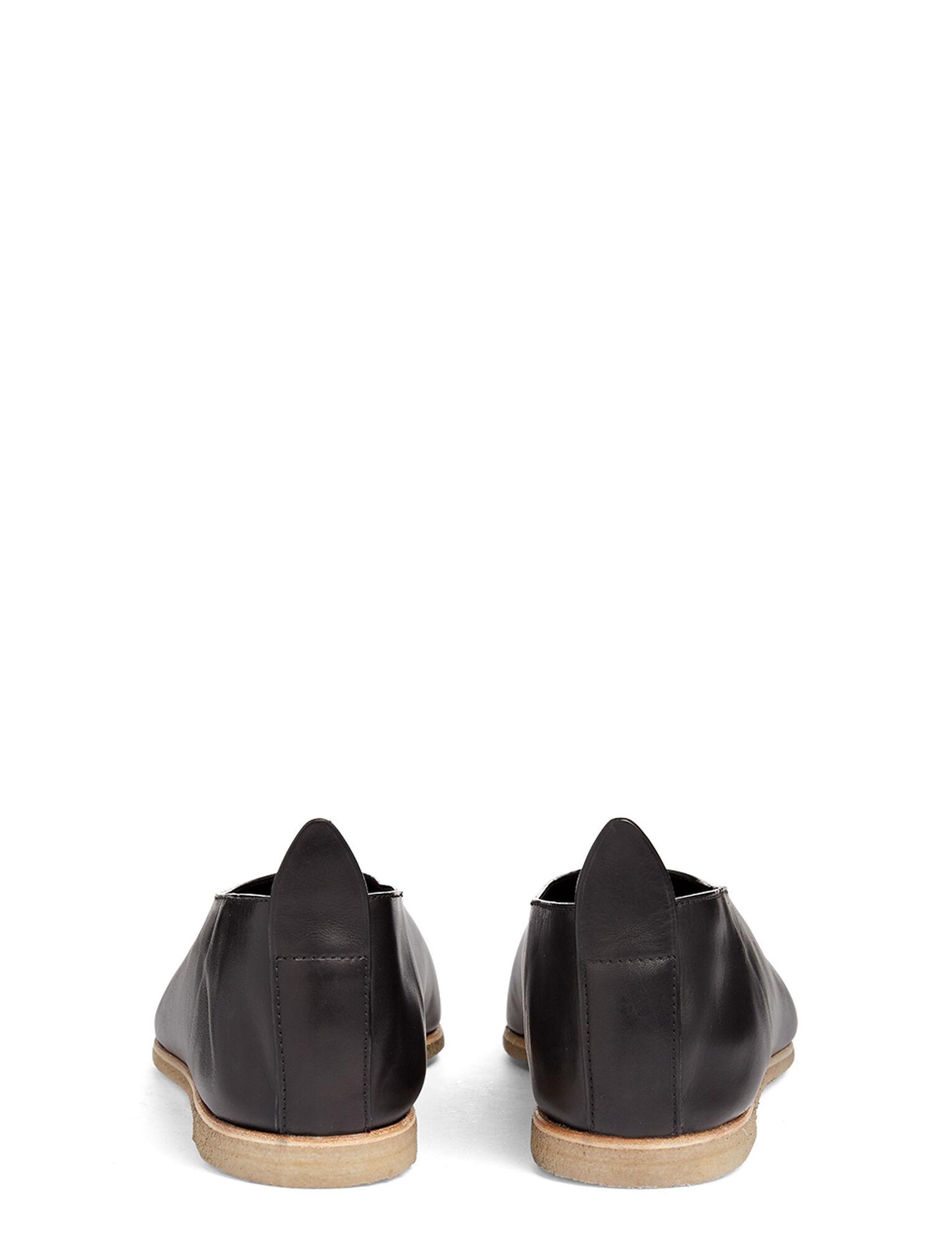 Joseph, Calf Leather Ballerina, in BLACK