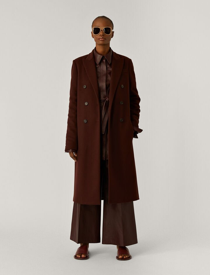 Joseph, Cam Wool Coating Coats, in Ganache