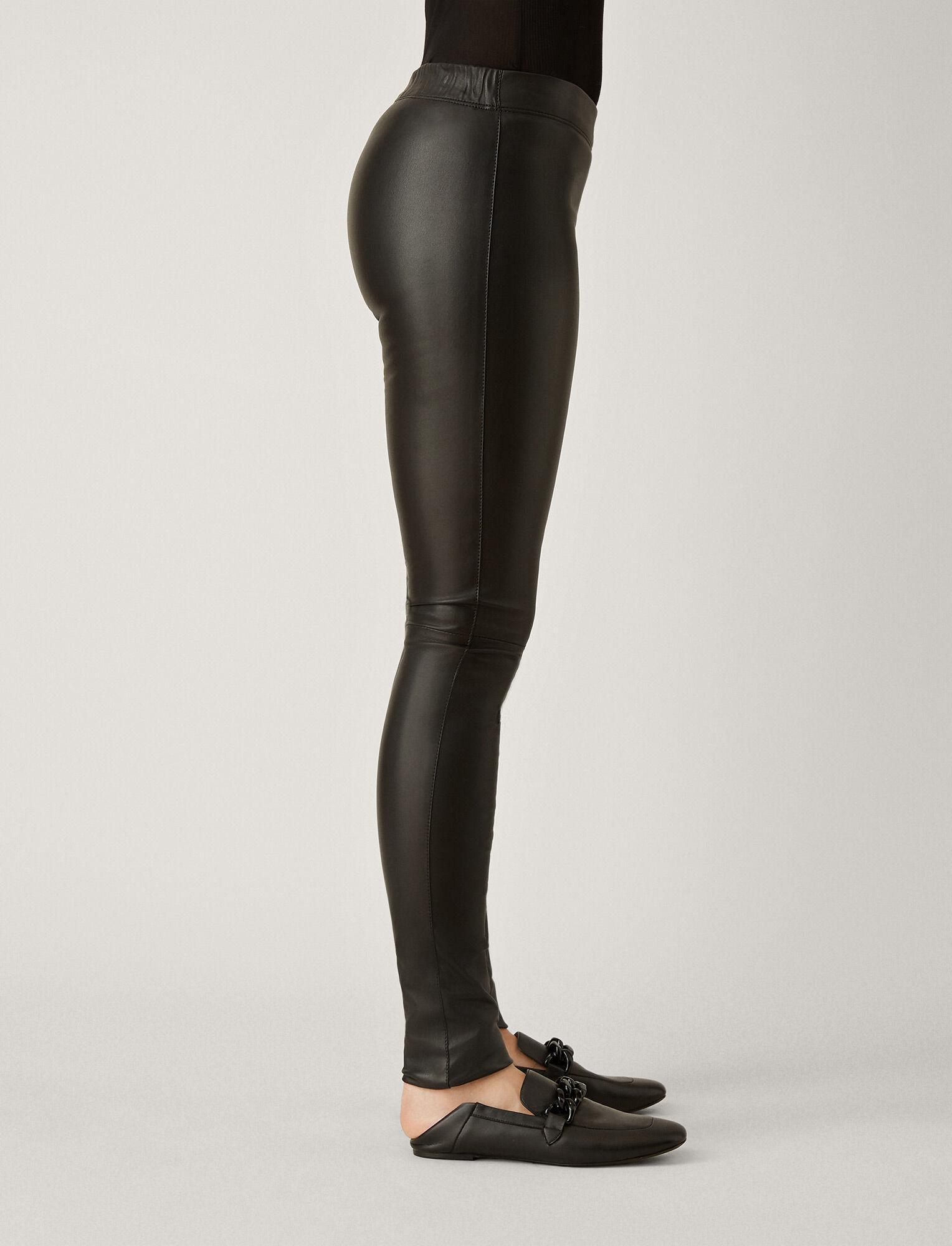 Joseph, Stretch Leather Legging, in BLACK