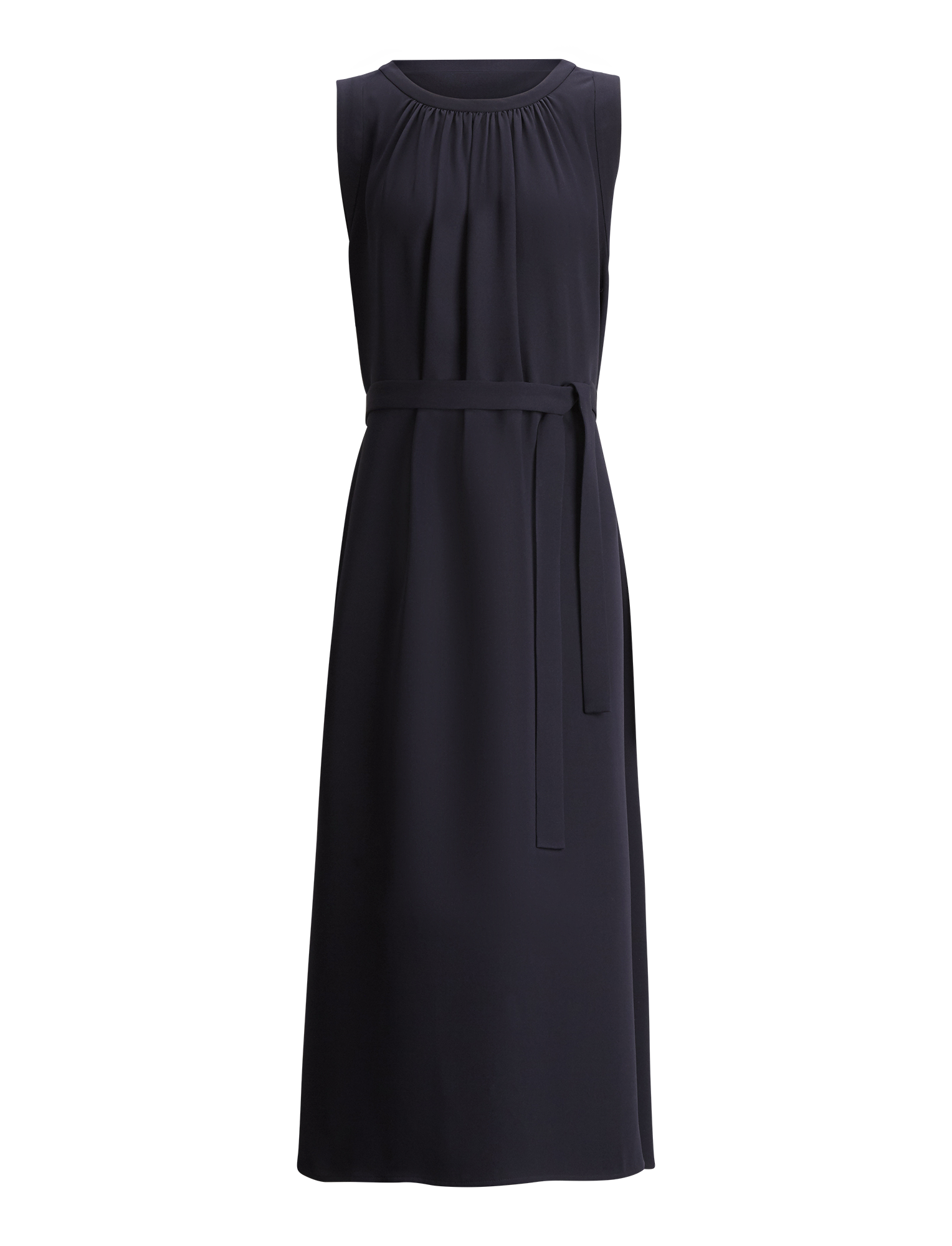 Joseph, Grace Silk Crepe Dress, in NAVY