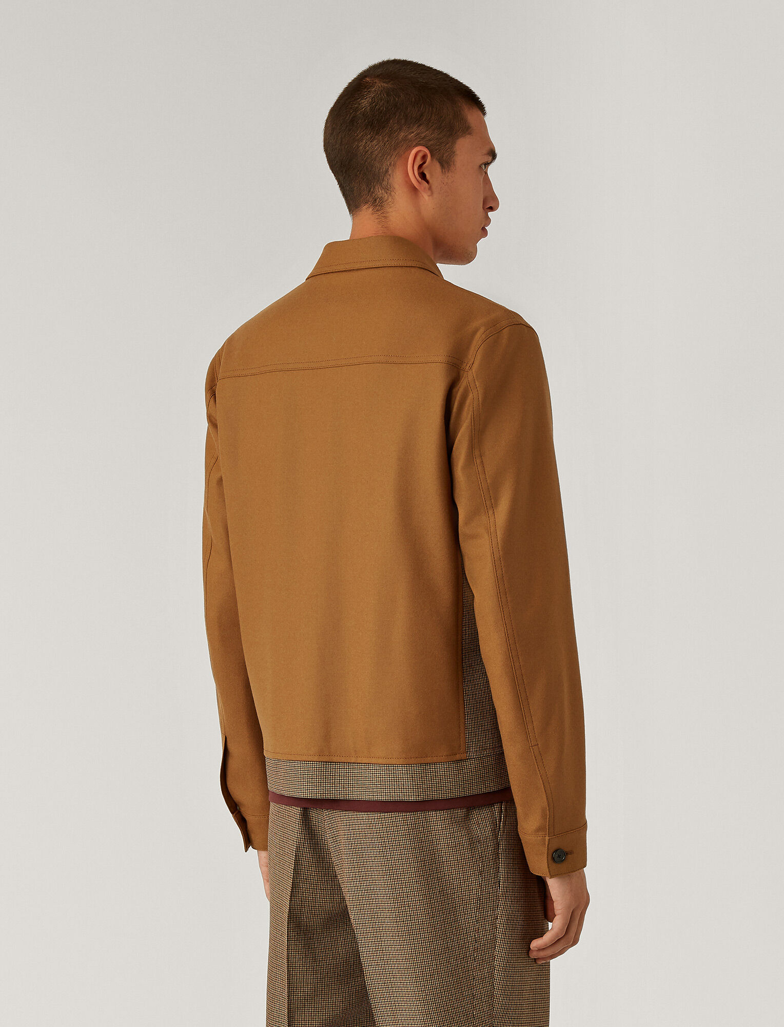 Joseph, Covert Cloth Combi Jacket, in Bronze