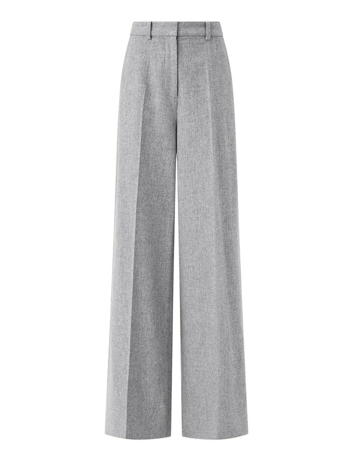 Joseph, Felted Flannel Alana Trousers, in Dove Grey