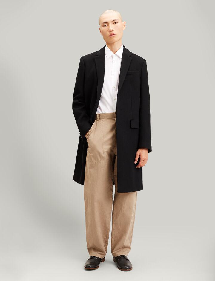 Joseph, London Double Wool Coat, in BLACK
