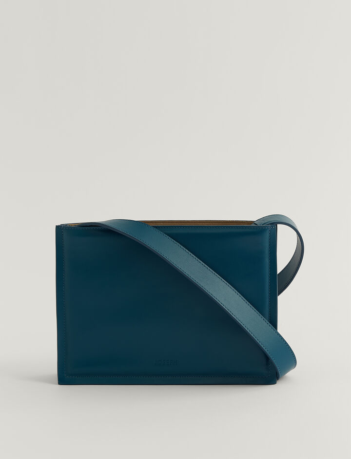 Joseph, TRIPLE BAG-LEATHER, in BLUE STEEL