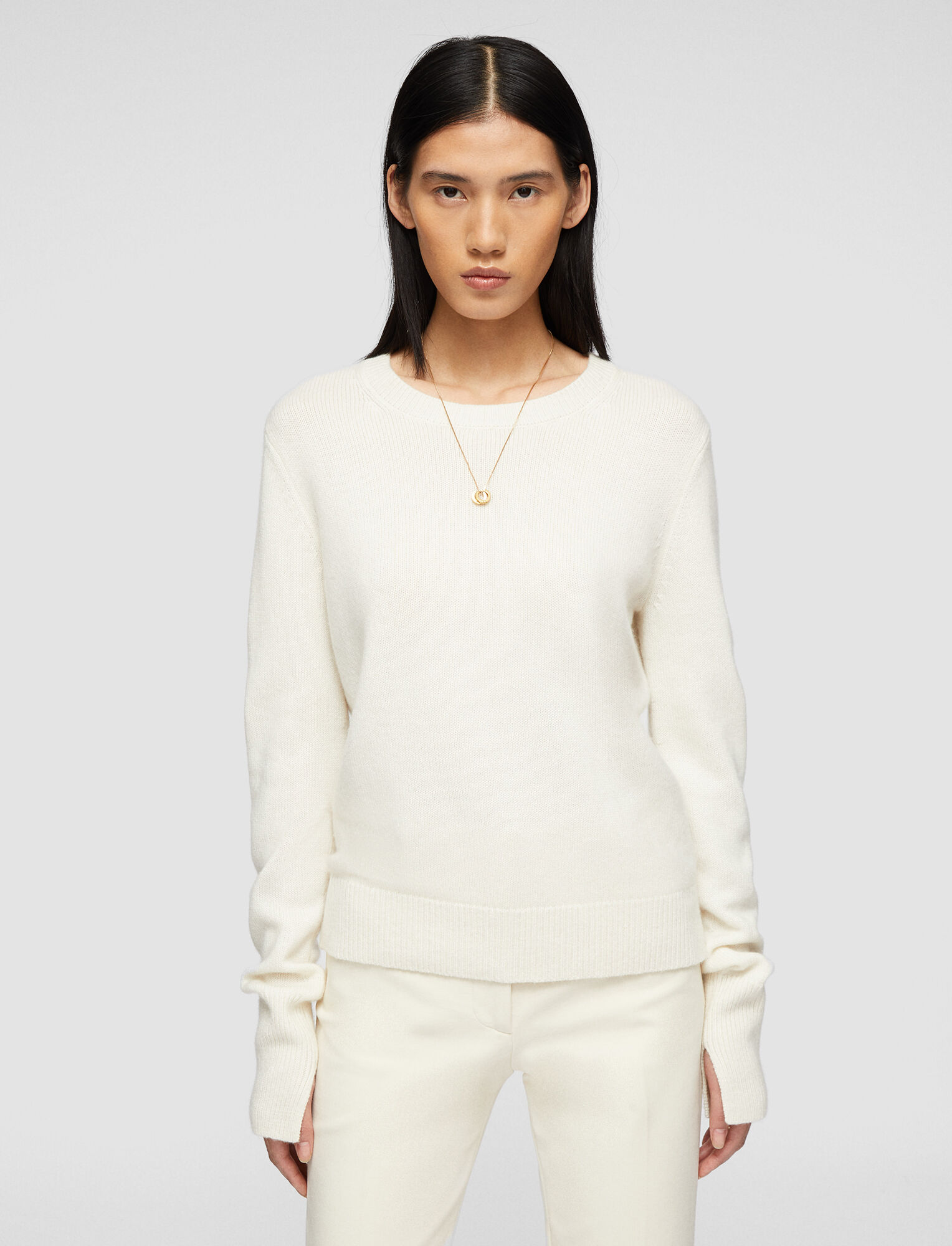 Joseph, Pure Cashmere Knit, in IVORY