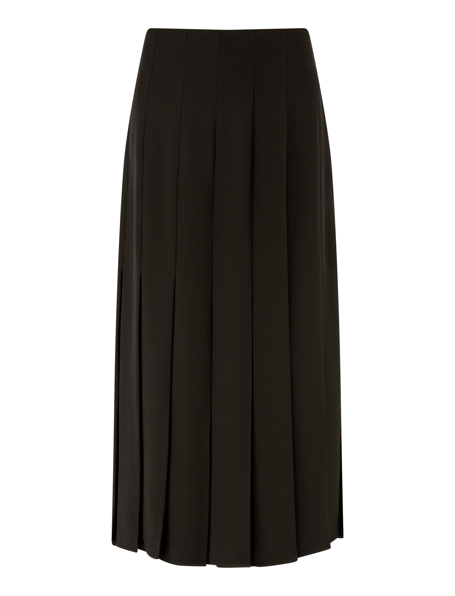 Joseph, Saria Heavy Silk Skirt, in Black