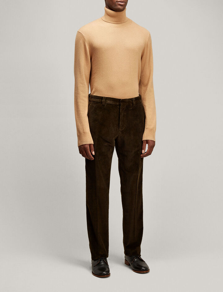 Joseph, High Neck Mongolian Cashmere Knit, in CAMEL