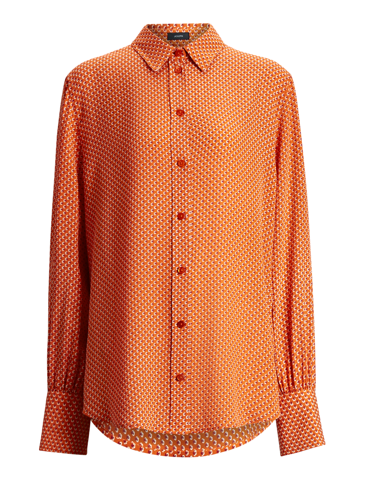 Joseph, Klein Micro Floral Blouse, in CARROT