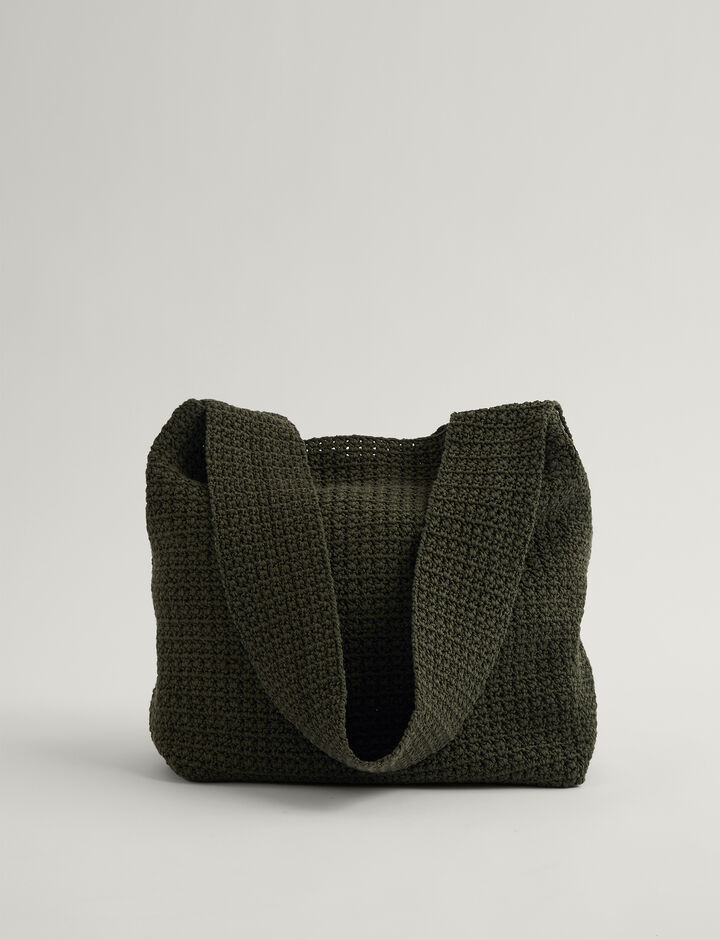 Joseph, Hand Crochet Bag-Crispy Cotton, in ARGIL