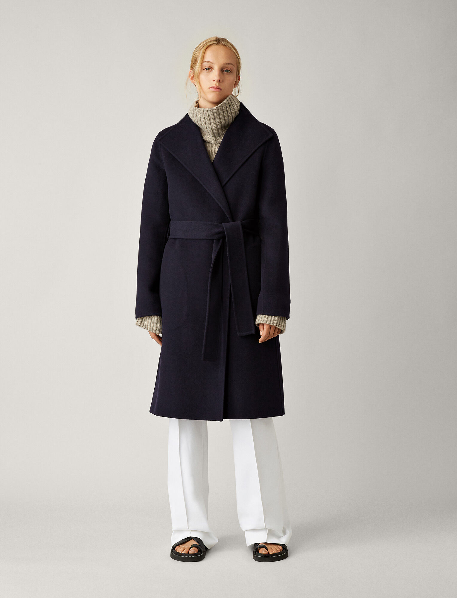 Joseph, Lima Double Face Cashmere Coat, in NAVY