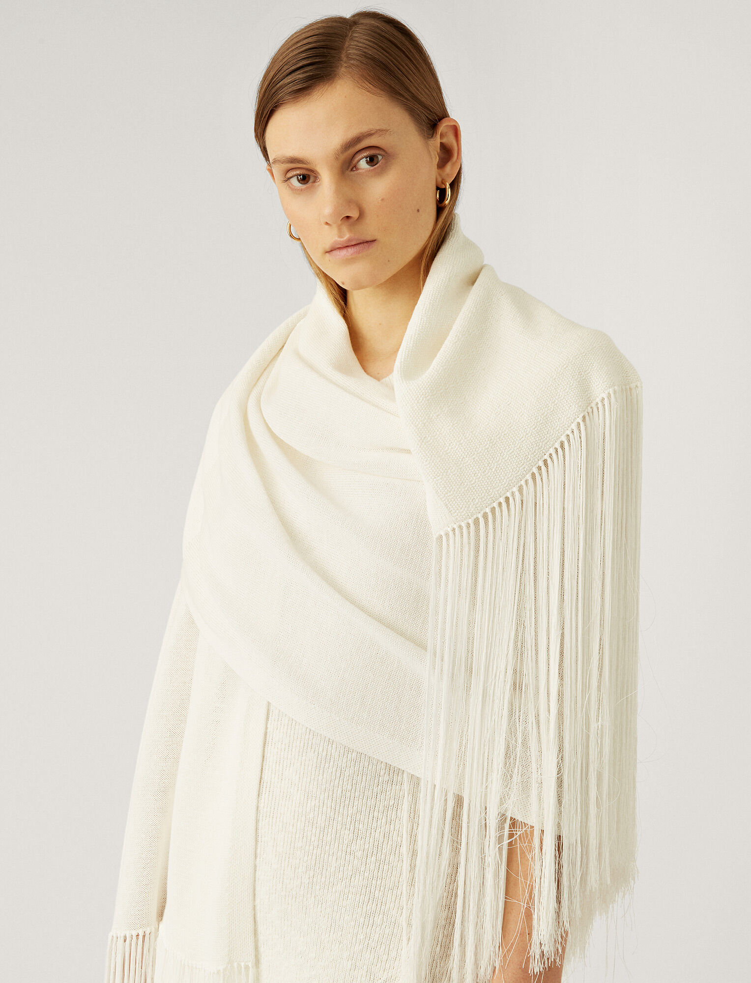 Joseph, Crispy Cotton Scarf, in WHITE