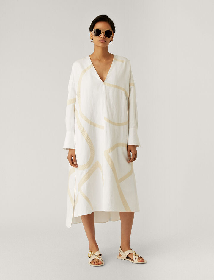 Joseph, Dalamo Poplin Blanket, in WHITE