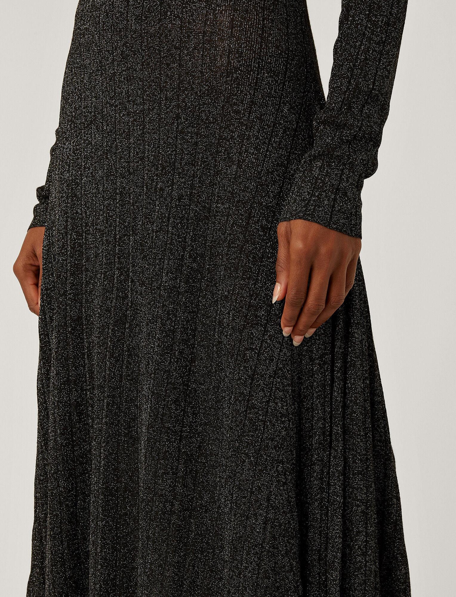 Joseph, Lurex Diva Dress, in BLACK