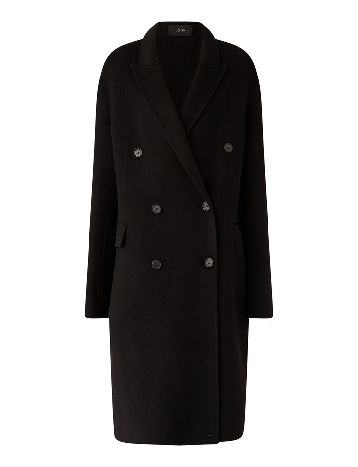 Joseph, Carles Dbl Face Cashmere Coats, in Black