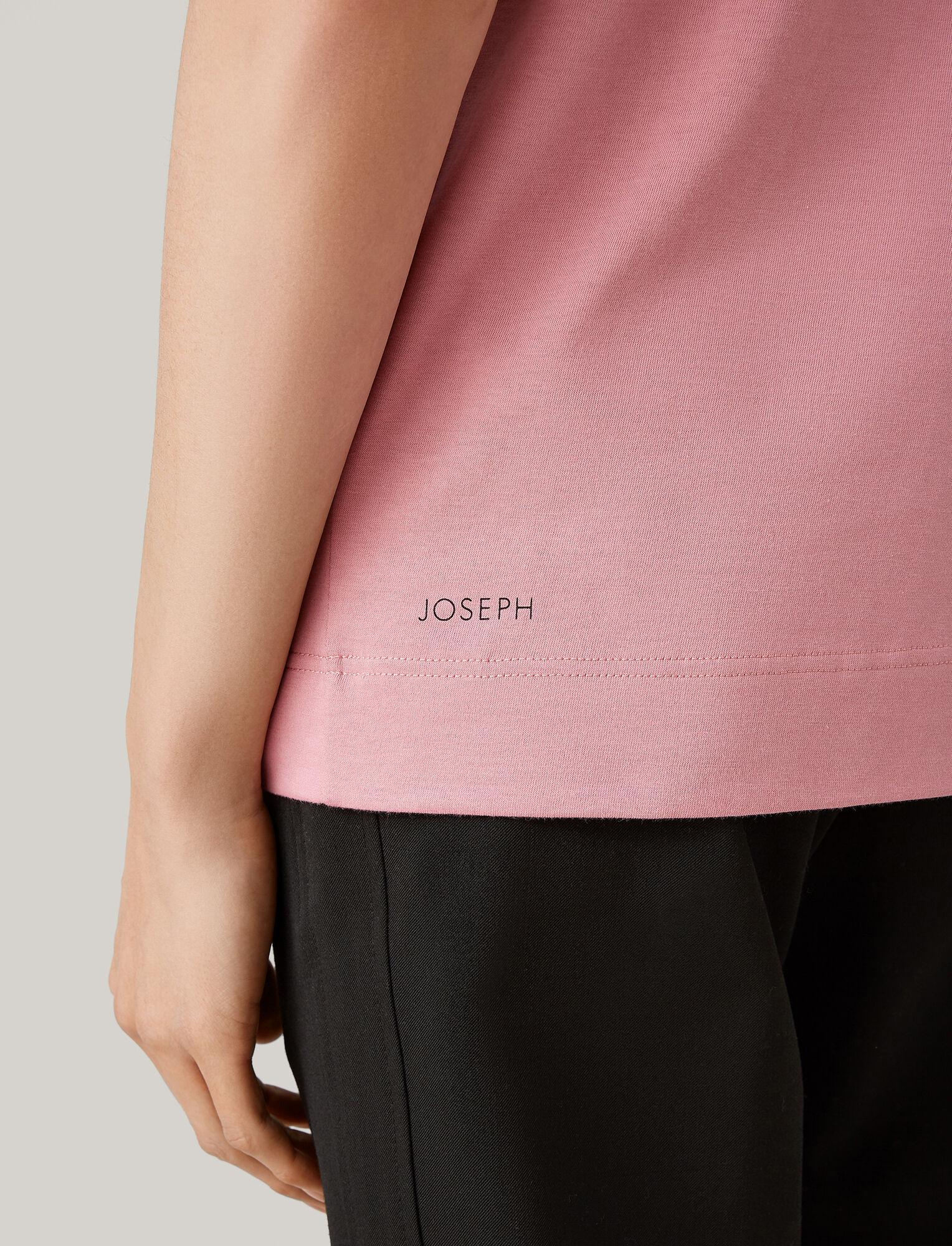 Joseph, Printed Jersey Tee, in PINK