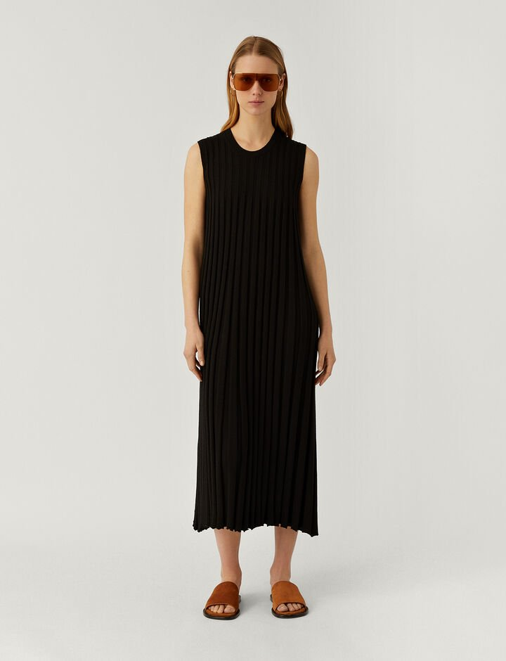 Joseph, Dress-Textured Rib, in BLACK