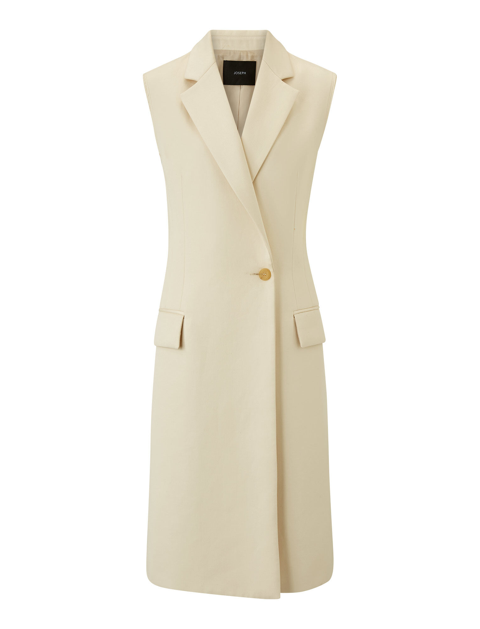 Joseph, Cyrielle Cotton Sateen Coat, in CREAM