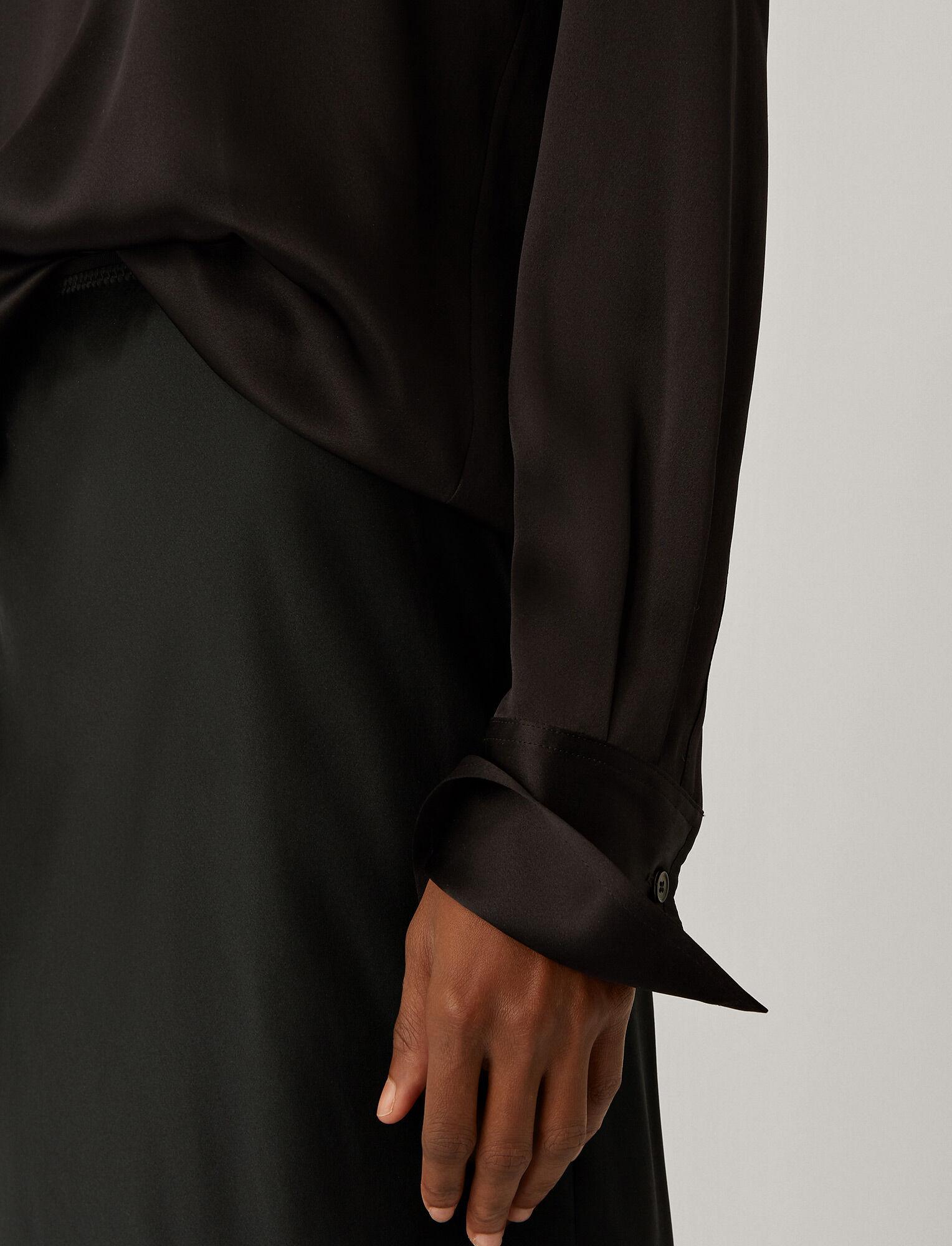 Joseph, Belgy Silk Satin Blouse, in Black