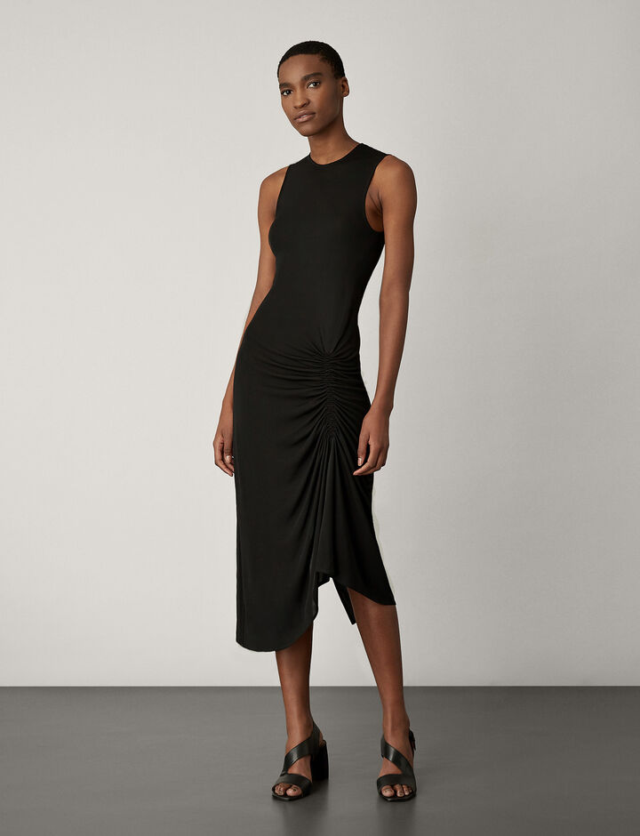 Joseph, Ladie Crepe Jersey Dress, in BLACK