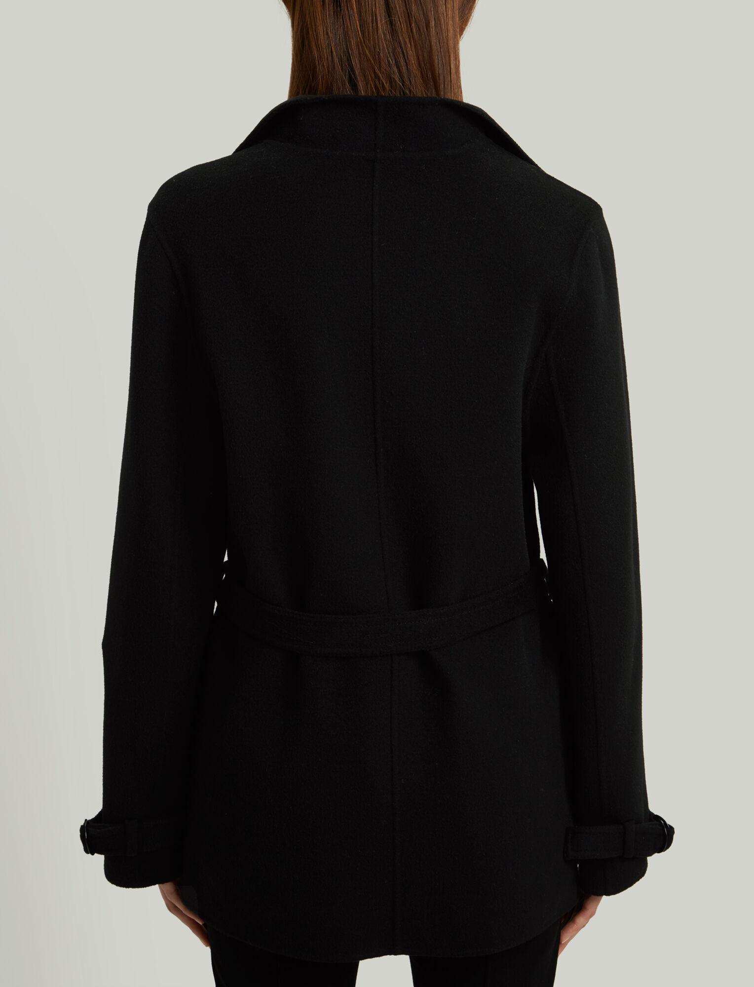 Joseph, New Lima Short Double Cashmere Coat, in BLACK