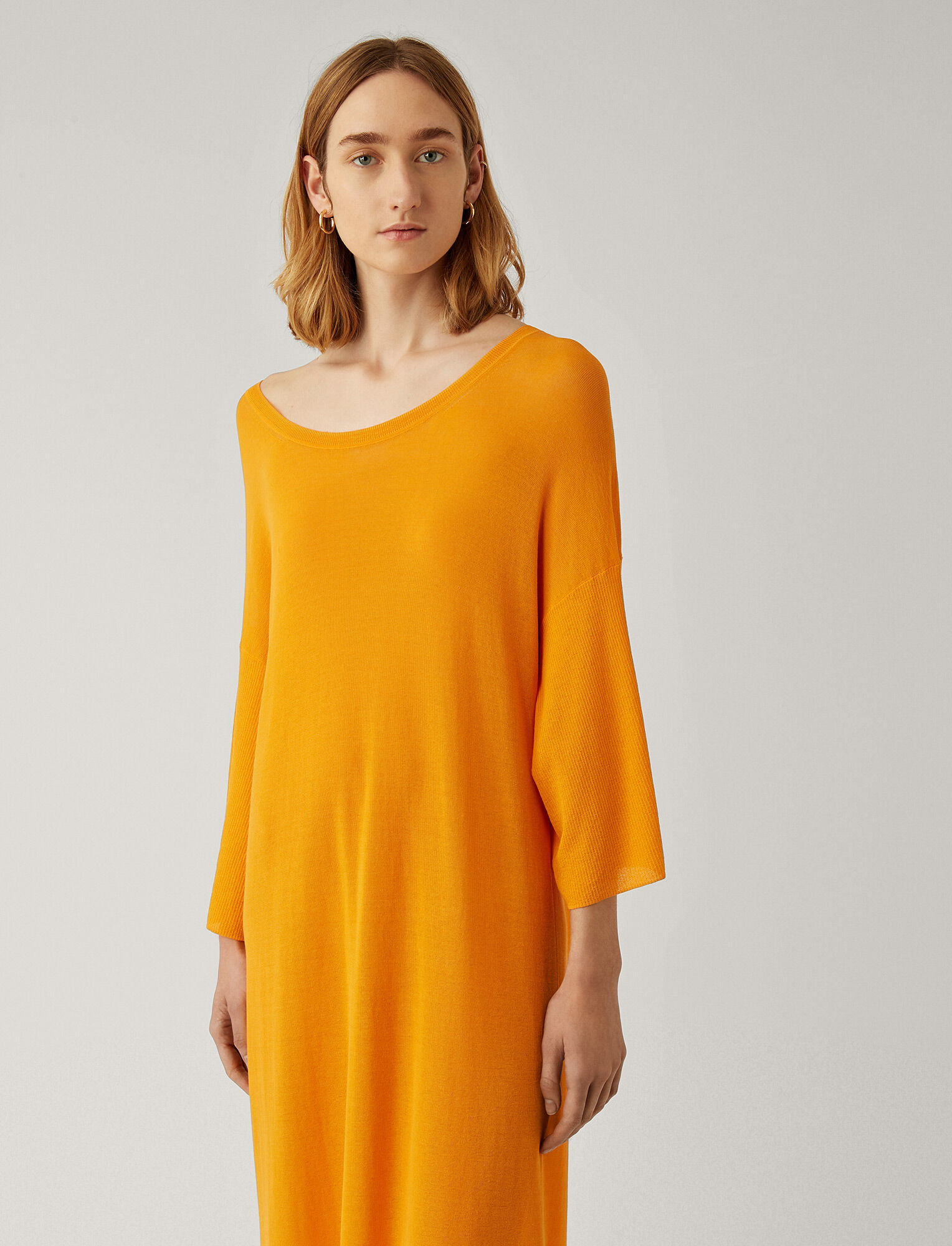 Joseph, Darline Sheer Cotton Dress, in TANGERINE
