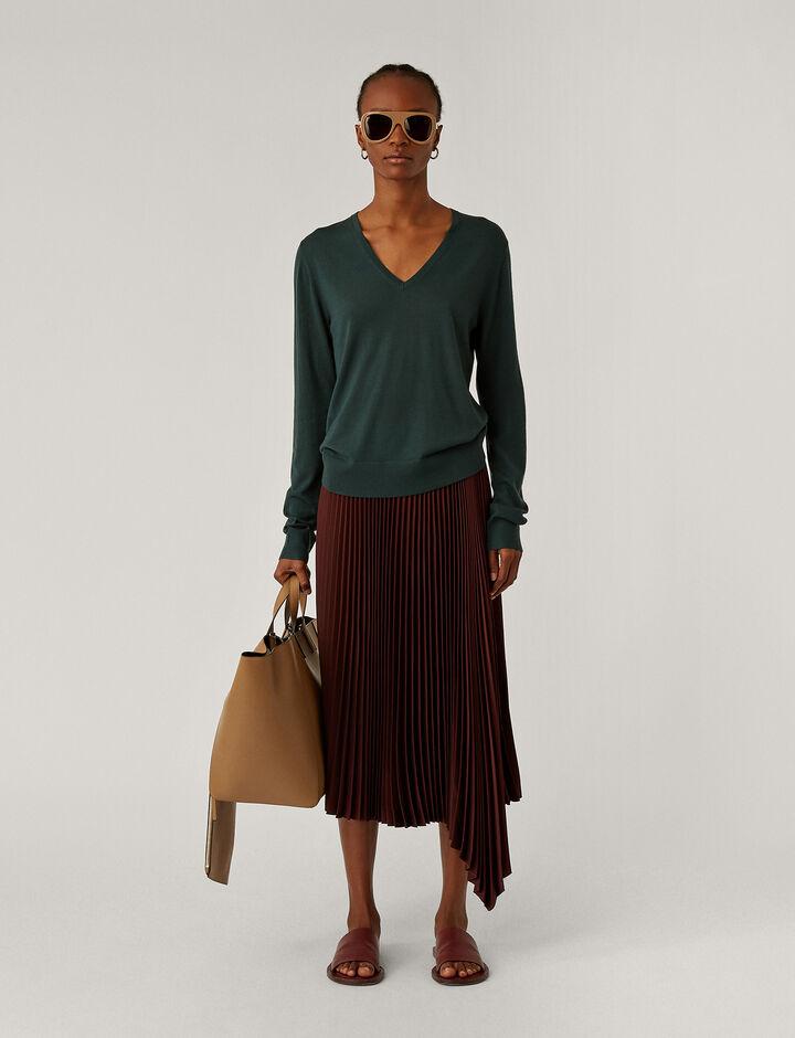 Joseph, V Nk Ls Fine Merinos Knitwear, in Petrol