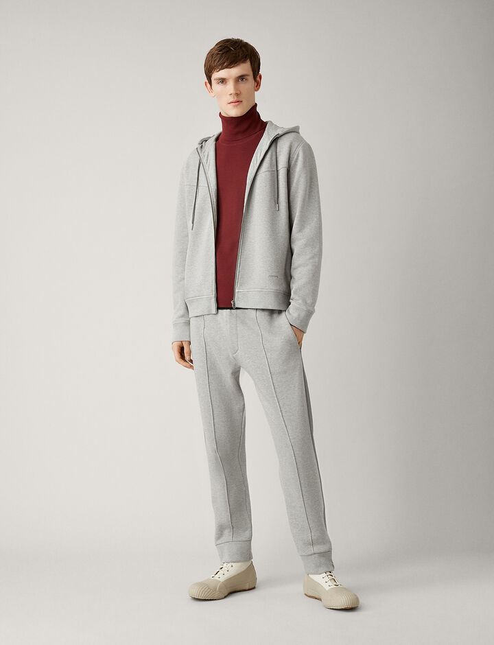 Joseph, Hoody Molleton Jersey, in GREY CHINE