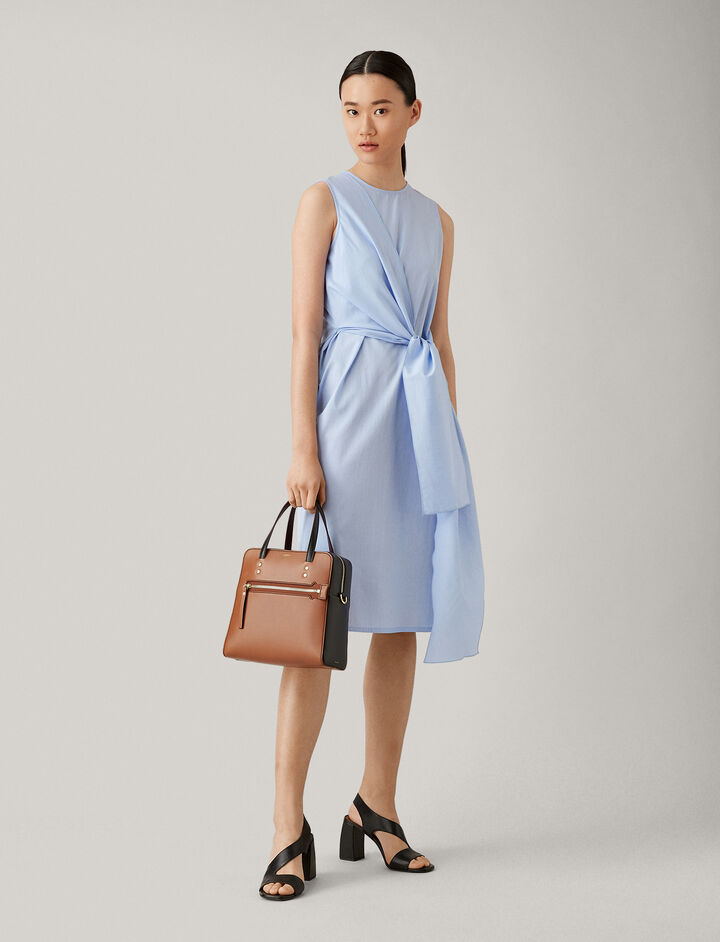 Joseph, Alicia Dress Poplin Chambray Dress, in CHAMBRAY
